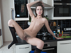 WeareHairy Helga Helga strips naked to play on her kitchen table  [FULL PICSET Highres WEBRIP] PORN RIP