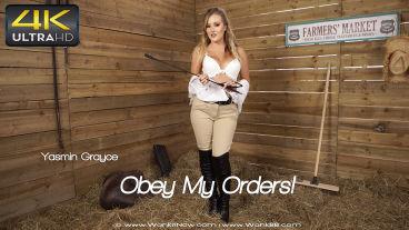 Wankitnow Yasmin Grayce  Obey My Orders  SITERIP VIDEO PORN RIP