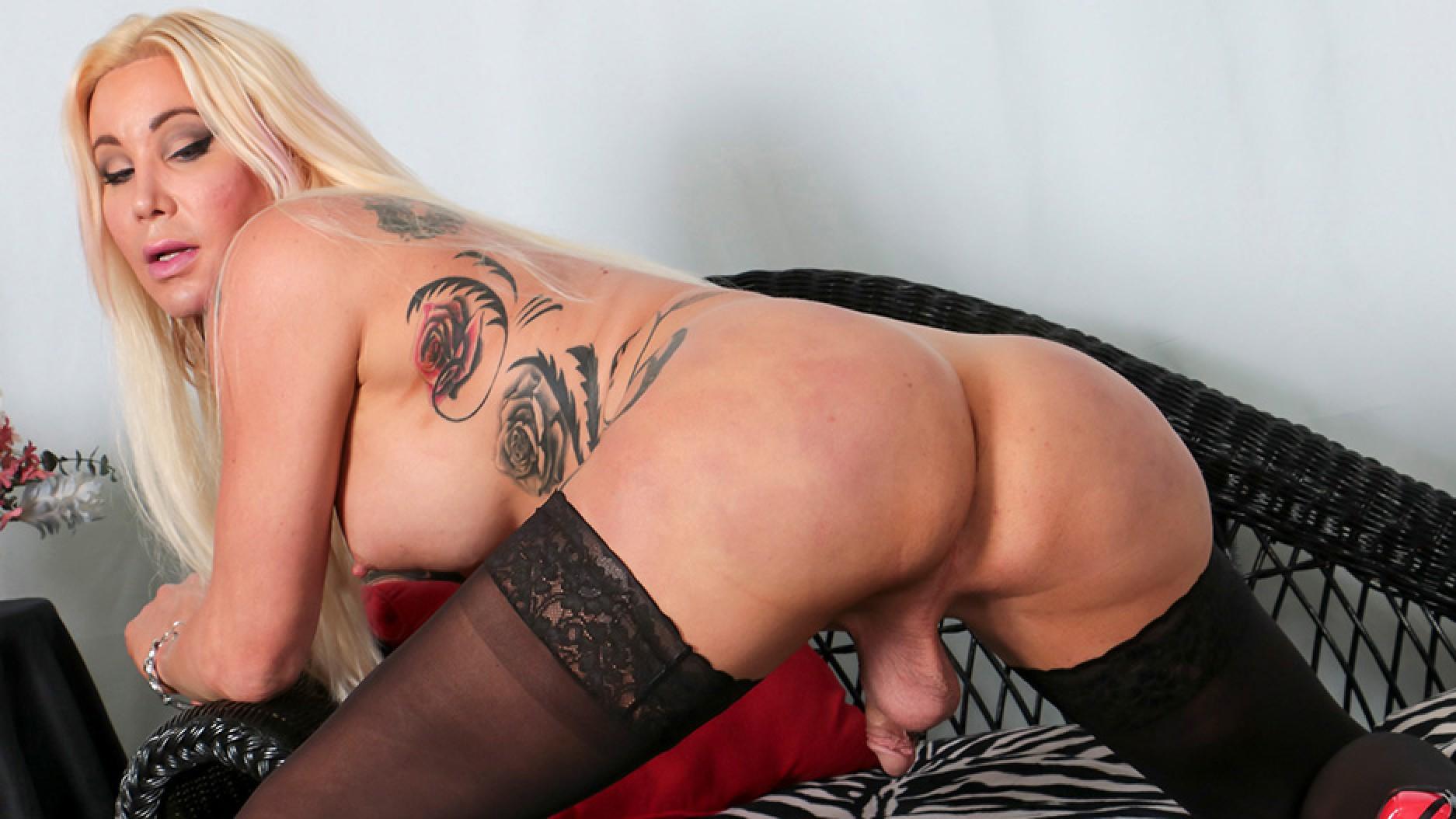 ShemaleYum Horny Blonde Josie Wails Shakes Her Booty! Added  28th Jan 2017 Tranny XXX Siterip PORN RIP
