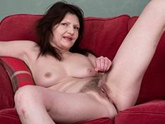 WeareHairy Kristine Von Saar Kristine Von Saar gets naked on her red couch  [FULL PICSET Highres WEBRIP] PORN RIP