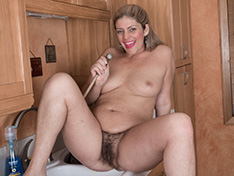 WeareHairy Alicia Silver Alicia Silver strips and plays naked in a kitchen  [FULL PICSET Highres WEBRIP] PORN RIP