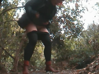 YourVoyeurVideos  Redhead mature woman squats and pees PaysiteRip VoyeurXXX PORN RIP