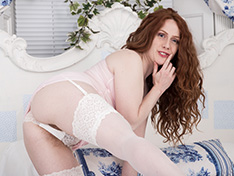 WeareHairy Annie M Annie M models her white lingerie on her bed  [FULL PICSET Highres WEBRIP] PORN RIP