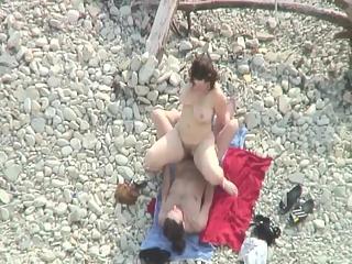 YourVoyeurVideos  Chubby fuck and cum on tits at beach PaysiteRip VoyeurXXX PORN RIP