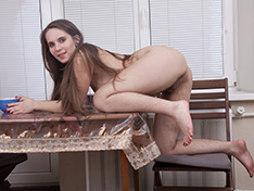 WeareHairy Sirena Sirena strips naked on her dinner table  [FULL PICSET Highres WEBRIP] PORN RIP