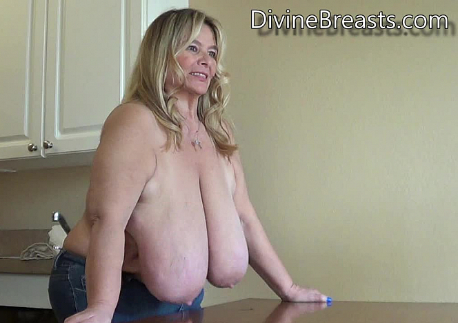 DivineBreasts Sarah Giant Udders on the Table  SITERIP BBW.XXX Divinebreasts PORN RIP