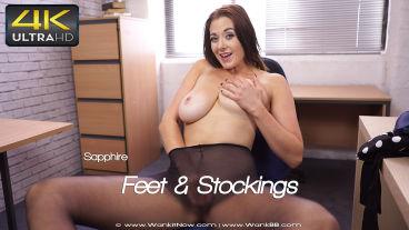 Wankitnow Sapphire  Feet & Stockings  SITERIP VIDEO PORN RIP