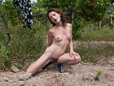WeareHairy Shaya Shaya masturbates outdoors by the grapes  [FULL PICSET Highres WEBRIP] PORN RIP