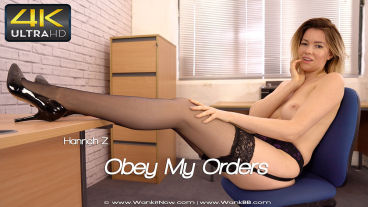 Wankitnow Hannah Z  Obey My Orders  SITERIP VIDEO PORN RIP