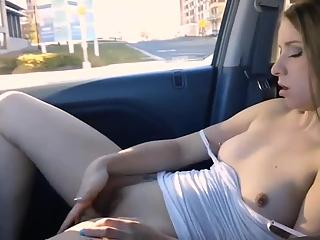 YourVoyeurVideos  Small tits chick fingers pussy in car PaysiteRip VoyeurXXX WEB-DL