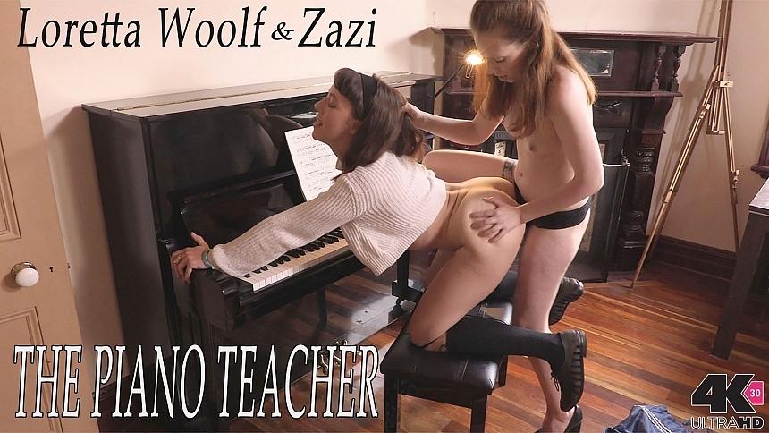 GirlsoutWest Loretta Wolf & Zazi - The Piano Teacher  Video  Siterip 720p mp4 HD PORN RIP