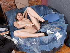 WeareHairy Simona Simona strips naked on her blue armchair  [FULL PICSET Highres WEBRIP] WEB-DL