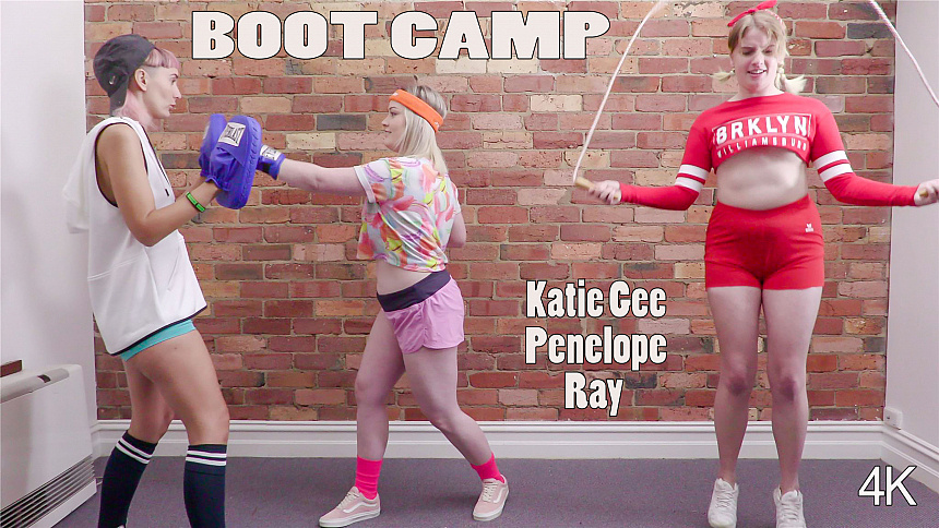 GirlsoutWest Katie Gee, Penelope & Ray - Boot Camp  Video  Siterip 720p mp4 HD PORN RIP
